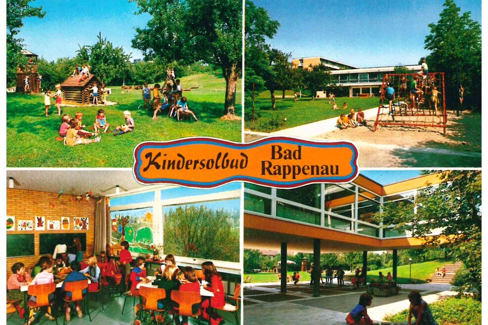 Kindersolbad Bad Rappenau, Neubau Salinenstraße 26: Collage, 1978